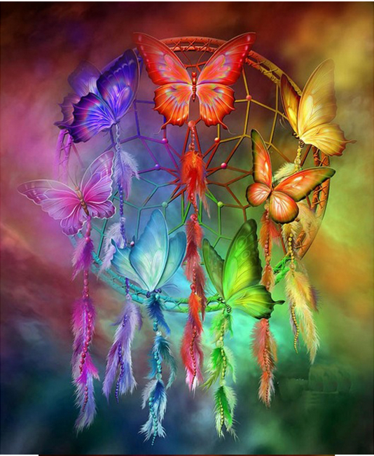 Diamond Painting  #16 - DreamCatcher - Butterflies