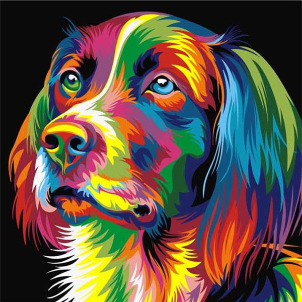 Diamond Painting #9 - Colourful Dog