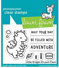 Lawn Fawn LF2323 Little Dragon stamp