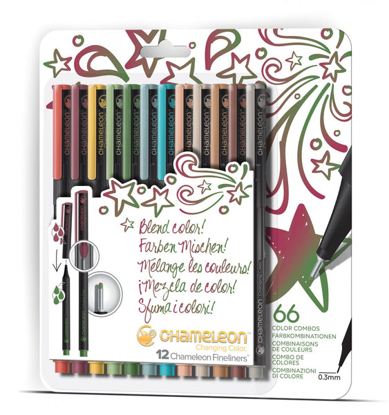 Chameleon - Fineliners 12 pack - Designer Colours