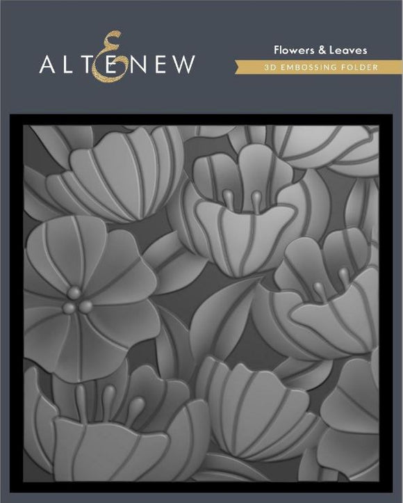 Altenew -3D Embossing Folder Flowers and Leaves ALT4412