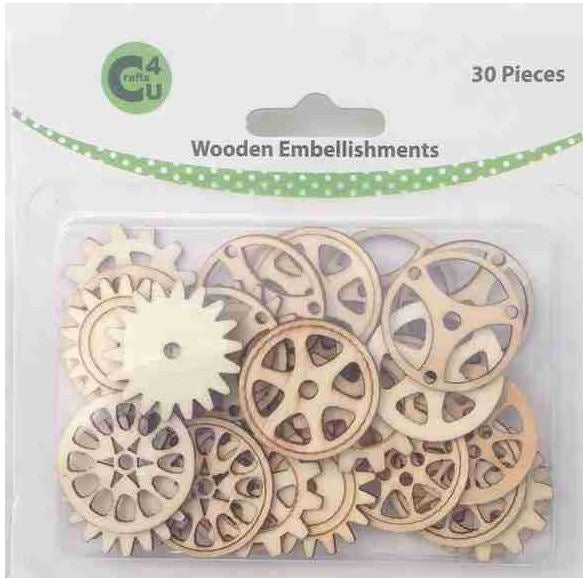 Craft - 70067 Wooden Embellishments -Gears
