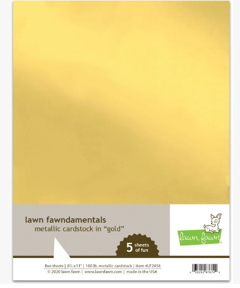 Lawn Fawn Metallic cardstock - Gold A4  5 sheets