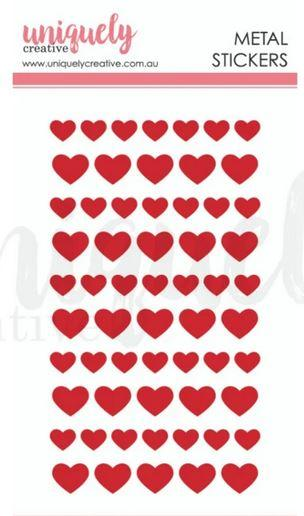 UCE1786 - Metal Stickers - Red Hearts : Serendipity (Uniquely Creative)