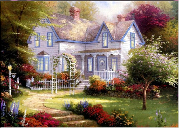 Diamond Painting #24 - House and Garden