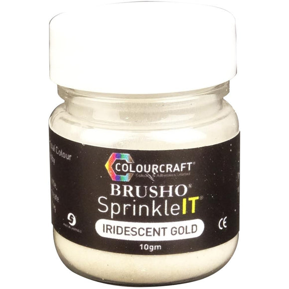 Brusho Sprinkleit- Iridescent Gold 10g