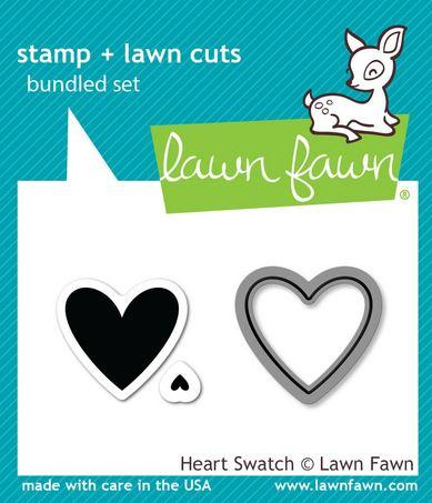 Lawn Fawn - LF35127 Heart Swatch Stamp and Die