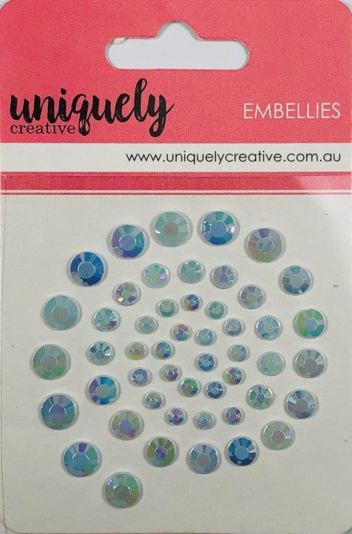 UCE1751 : Light Blue Rhinestones