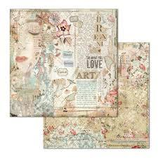 Stamperia - 12x12 SBB667 Love art face