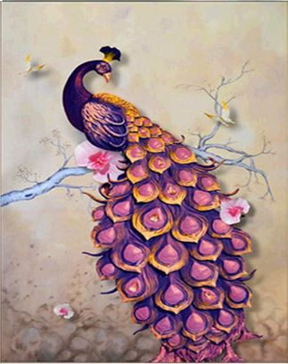 Diamond Painting #34 - Purple Peacock