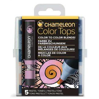 Chameleon 5-Color Tops Pastel Tones Set
