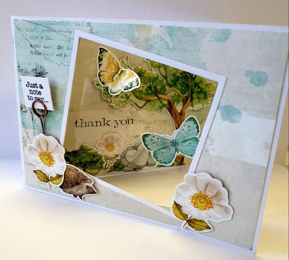 ** INSTRUCTIONS ONLY ** for See Thru Acetate Window Card (CK) #C824