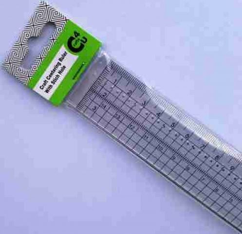 Crafts -  Centering Ruler with Stitch Holes 10030