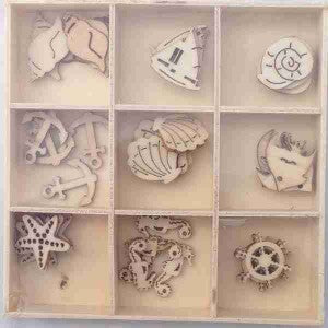 Craft - 10105 Wooden Embellishments - Sealife