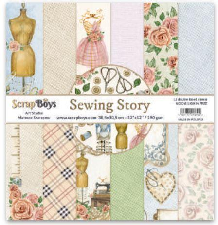ScrapBoys - SELA-08 12 x12 Paper Pack (Sewing Love)