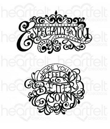 HCPC-3934 Elegant Especially for You Cling Stamp Set