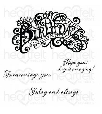 HCPC-3937 Elaborate Birthday Cling Stamp Set