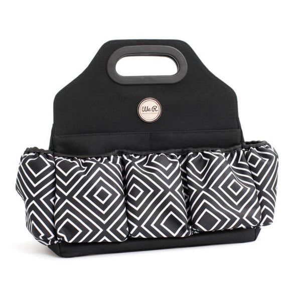 We R Memory Keepers Crafters Tote Bag - Black & White Diamond 660623