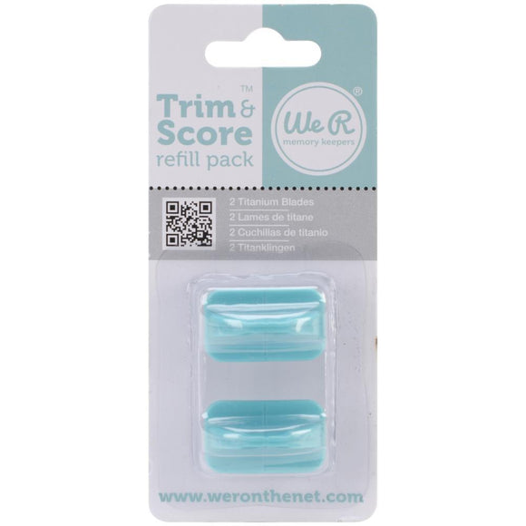 We R memory keepers-71338-8 Trim and Score Refil pack- 2 pack