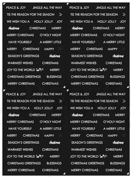 Mini Words Cut Apart Sheet - Once upon a Christmas (Uniquely Creative)
