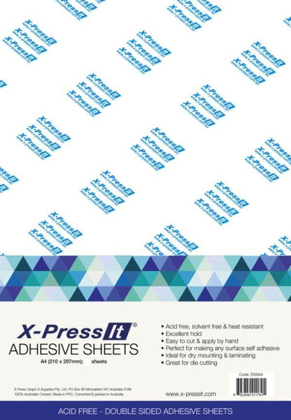 X-Press it Double Sided Adhesive Sheet - A4 10 Pack