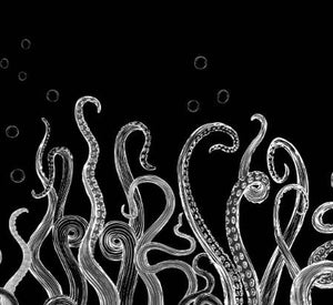 Tentacles Black Single Border - On Demand