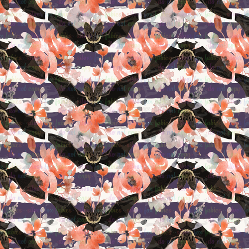 Batty Floral Stripe - Silver Fox Fabrics