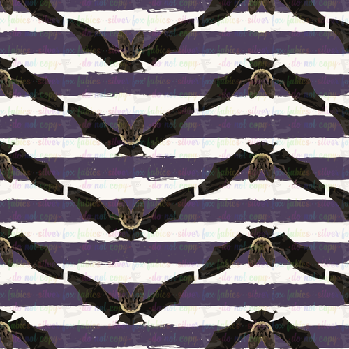 batty stripe - Silver Fox Fabrics
