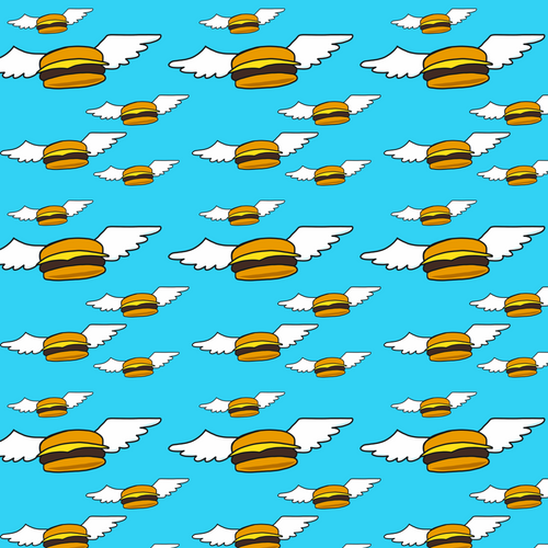Flying Burgers - Silver Fox Fabrics