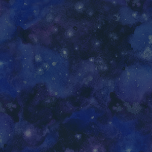 Galactic Water Color Navy - Silver Fox Fabrics
