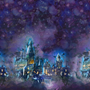 Hogwarts Purple - Silver Fox Fabrics