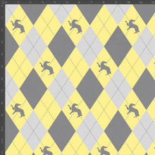 Load image into Gallery viewer, Hufflepuff Argyle - Silver Fox Fabrics