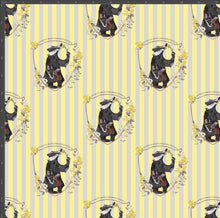 Load image into Gallery viewer, Hufflepuff Stripe - Silver Fox Fabrics