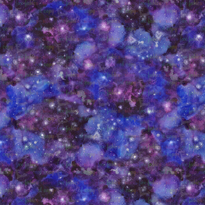 Purple Watercolor Galaxy - Silver Fox Fabrics