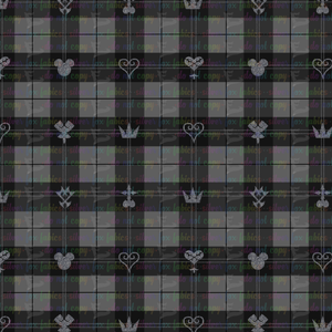 Kingdom Hearts Plaid Large Scale - Silver Fox Fabrics