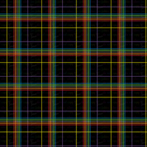 Rainbow Plaid - Silver Fox Fabrics
