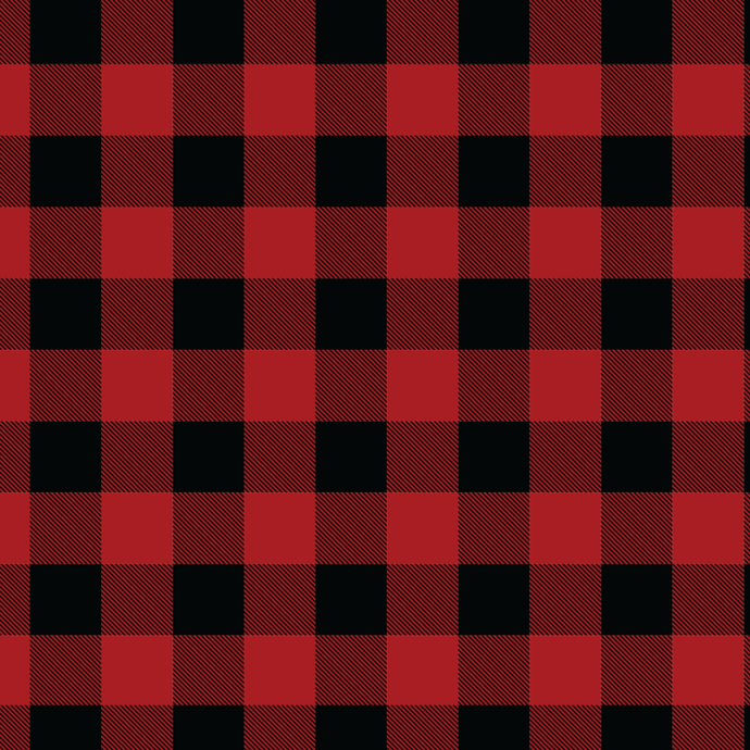 Red and Black Buffalo Plaid Knit Fabric - Silver Fox Fabrics
