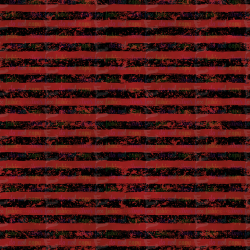 Red Grunge Stripe - Silver Fox Fabrics