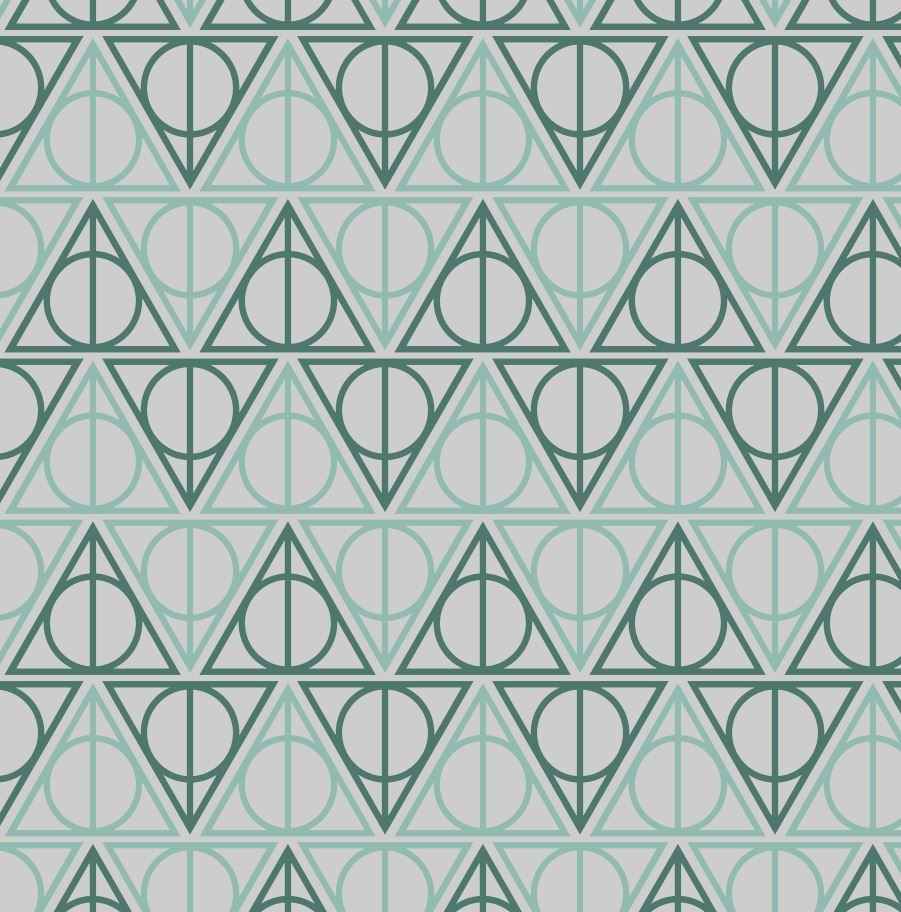 Slytherin Hallows - Silver Fox Fabrics