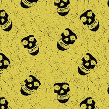 Load image into Gallery viewer, Yellow Skull - Silver Fox Fabrics