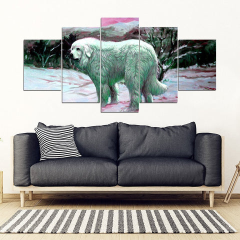 Great Pyrenees Art Print 5 Piece Framed Canvas- Free Shipping-Paww-Printz-Merchandise