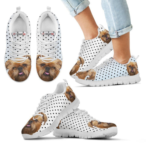 Brussels Griffon Black Dots Print Running Shoes For Kids-Free Shipping-Paww-Printz-Merchandise