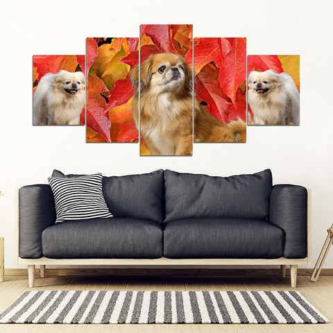 Pekingese Dog Print- Piece Framed Canvas- Free Shipping-Paww-Printz-Merchandise