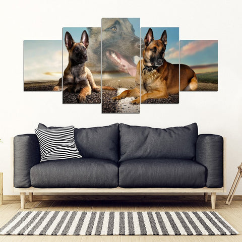 Belgian Malinois Dog Print- Piece Framed Canvas- Free Shipping-Paww-Printz-Merchandise