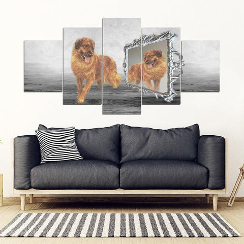 Leonberger Dog Print-5 Piece Framed Canvas- Free Shipping-Paww-Printz-Merchandise