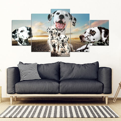 Dalmatian Dog Print- Piece Framed Canvas- Free Shipping-Paww-Printz-Merchandise