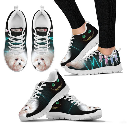 Bichon Frise Halloween Black Print Running Shoes For Women- Free Shipping-Paww-Printz-Merchandise