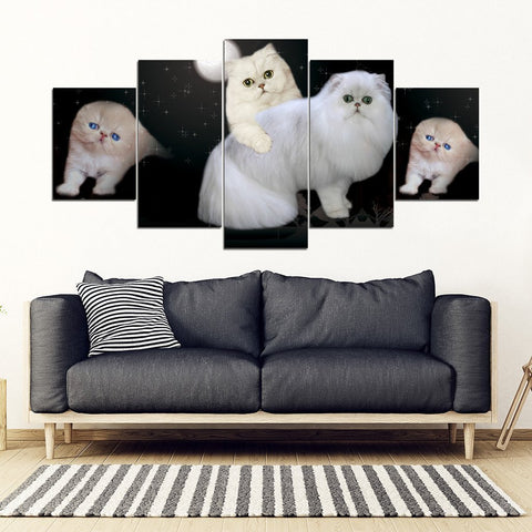 Persian cat Print-5 Piece Framed Canvas- Free Shipping-Paww-Printz-Merchandise