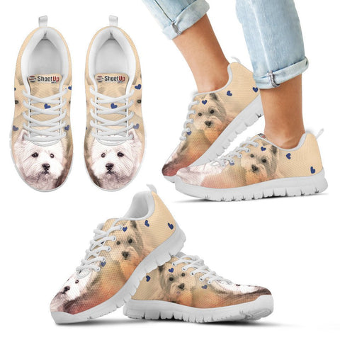 West Highland White Terrier Print Running Shoes For Kids- Free Shipping-Paww-Printz-Merchandise