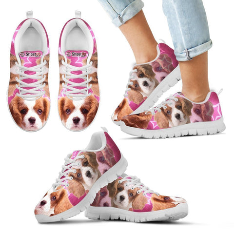 Cavalier King Charles Spaniel Print Running Shoes For Kids- Free Shipping-Paww-Printz-Merchandise